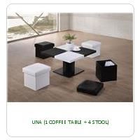 UNA (1 COFFEE TABLE + 4 STOOL)